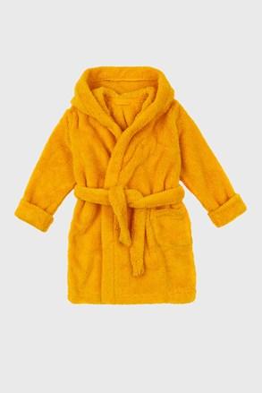 Szlafrok dziewczęcy Simple żółty