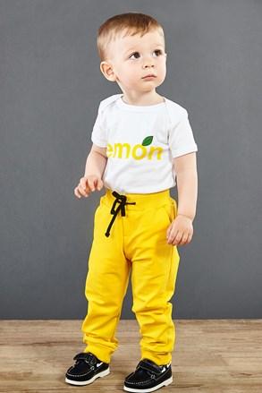 Dziecięce spodnie dresowe żółte
