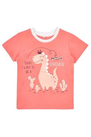 Dziewczęcy T-shirt Dinos