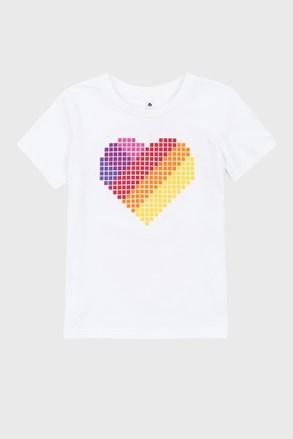 Dziewczęcy T-shirt Love Hearts