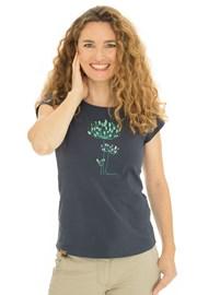 Damski niebieski T-shirt Bushman Natalie