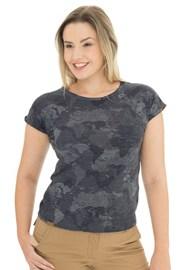 Damski szaroniebieski T-shirt Bushman Kira