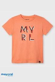Dziecięcy T-shirt Mayoral Apricot