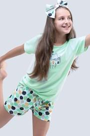 Dziewczęca piżama letnia Cats Aqua