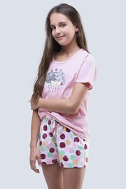 Dziewczęca piżama letnia Cats różowa