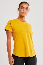 Damski T-shirt CRAFT Deft żółty