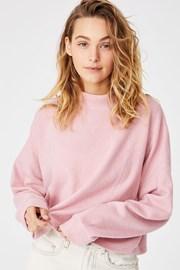 Damska różowa bluza sportowa Brina Oversized