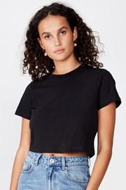 Damski T-shirt basic z krótkim rękawem Baby czarny