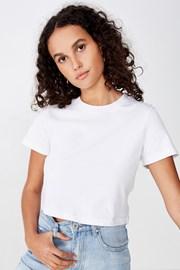 Damski T-shirt basic z krótkimi rękawami Baby biały