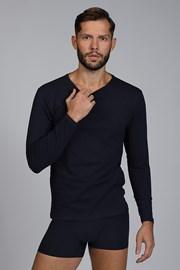 Niebieski T-shirt z długimi rękawami Cotton Nature