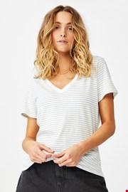 Damski T-shirt basic z krótkimi rękawami One w paski
