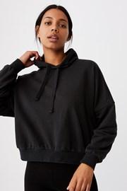 Damska czarna bluza z kapturem Favourite Oversized