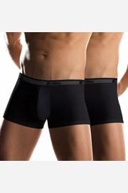 Dwupak męskich bokserek z krótszymi nogawkami Uomo Noir