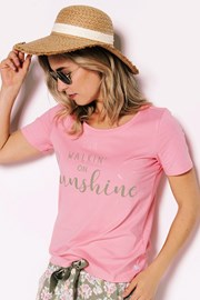 Damski T-shirt od piżamy Sunshine