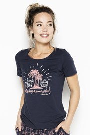 Damski T-shirt od piżamy Palm Trees