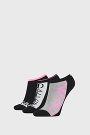 3 PACK damskich skarpetek Calvin Klein Nola czarne