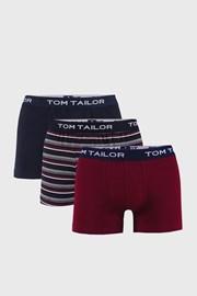 3 PACK niebiesko-czerwonych bokserek Tom Tailor