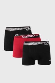 3 PACK bordowo-czerwonych bokserek Umbro