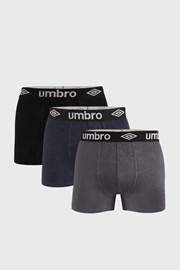 3 PACK bokserek Umbro Organic Cotton