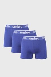 Niebieskie bokserki Umbro BIO 3 PACK