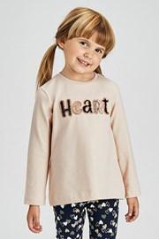 Dziewczęcy komplet legginsy i bluzka Mayoral Heart