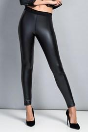 Damskie czarne gładkie legginsy