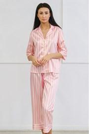 Satynowa piżama Ashley długa