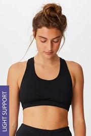 Biustonosz sportowy Workout Crop czarny