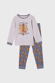 Chłopięca piżama Leniwiec długa