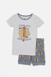 Chłopięca piżama Leniwiec krótka