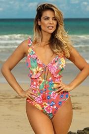 Jednoczęściowy damski kostium kąpielowy Leafy Coral