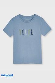 Chłopięcy T-shirt Mayoral Youth niebieski