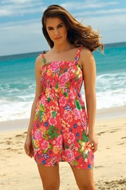 Sukienka plażowa Leafy Coral