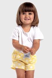 Dziecięce szorty ELKA LLOUNGe żółte w groszki