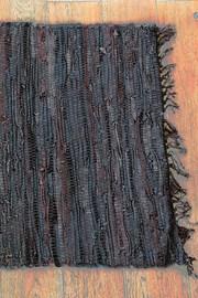 Dywanik Home Design ze skóry brązowy