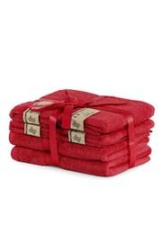 Komplet bambusowych ręczników Bamby czerwony
