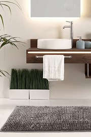 Dywanik łazienkowy Bati brązowy