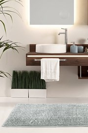Dywanik łazienkowy Bati szary