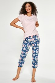 Damski trzyczęściowy komplet piżamowy Beautiful
