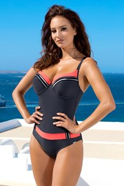 Jednoczęściowy damski kostium kąpielowy Brigitte Grey