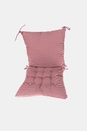 KOMPLET poduszki na krzesło z podkładką czerwono-biały