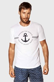 Biały T-shirt Captain Blues