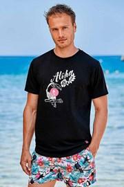 Czarny T-shirt Hawaii
