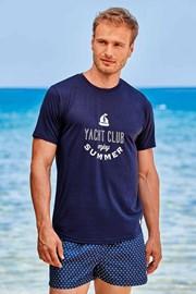 Ciemnoniebieski T-shirt Yacht Club