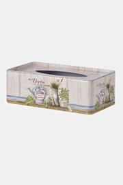 Blaszane pudełko na chusteczki higieniczne Herbs