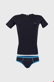 Niebieski komplet: chłopięce slipy i T-shirt