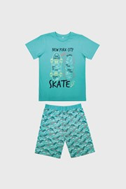 Chłopięca piśama Skate jasnoniebieska