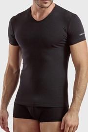 Męski T-shirt V Neck czarny