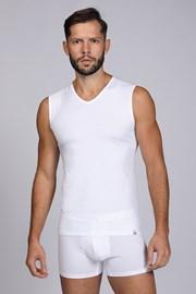 Biała koszulka bez rękawów