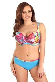 Górna część damskiego kostiumu kąpielowego Flowers Blue